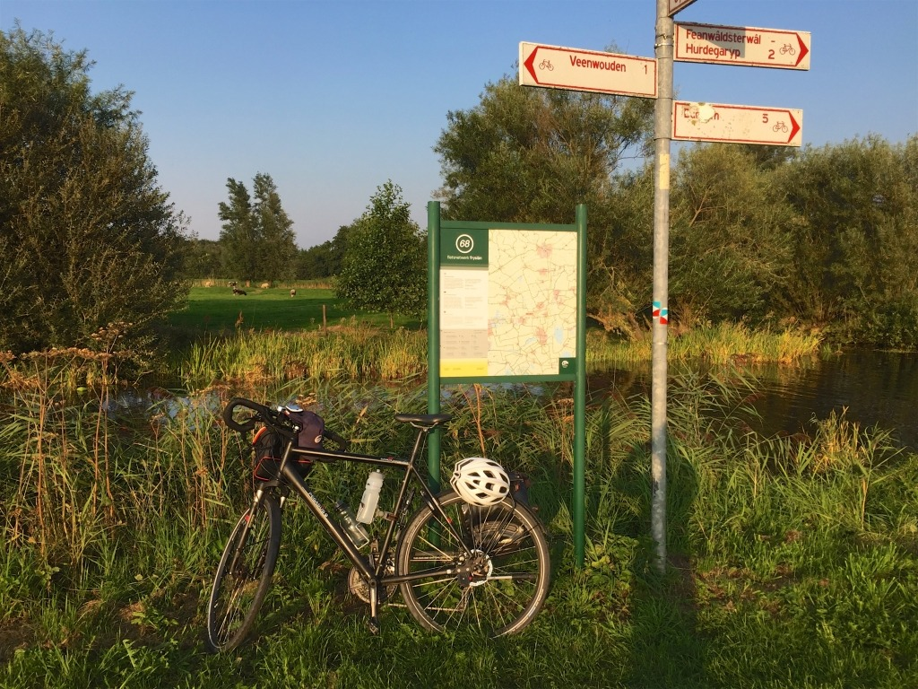 Elfstedentocht op de fiets, friese steden
